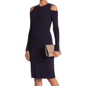 Eliza J Cold Shoulder Dress {BLACK}